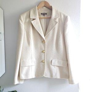 Ann Taylor cream jacket blazer